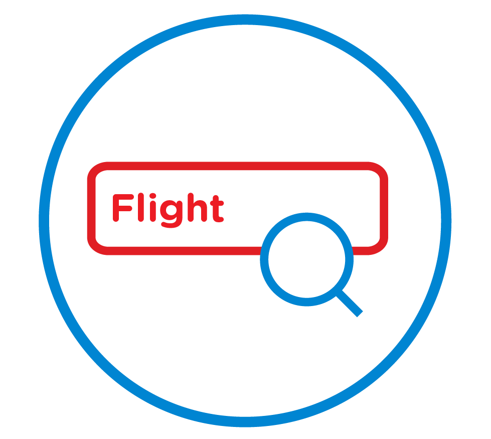 Search & select flight
