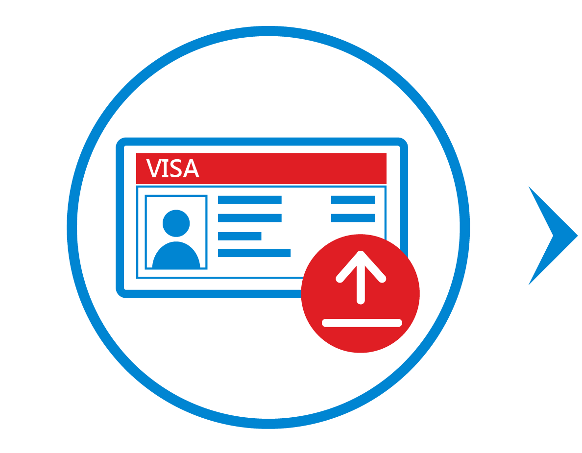 Upload valid supporting document of employment contract or working visa