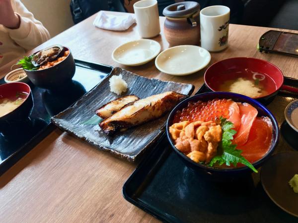 Sapporo sashimi rice